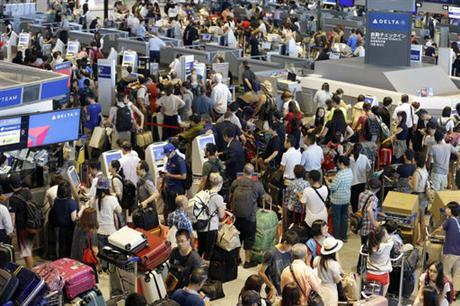 Delta Air Lines flights halted worldwide due to computer shutdown