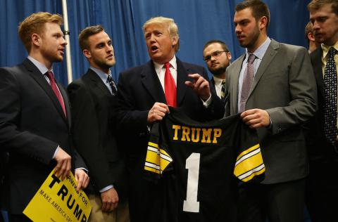Donald Trump prefers football over presidential debates