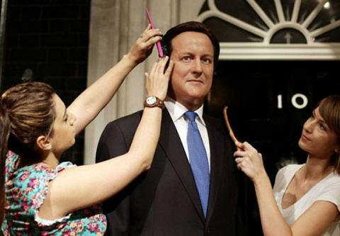 Out of sight, out of mind: Madame Tussauds' relegated David Cameron's waxwork to storage