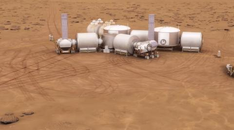 On Earth will be build prototypes of the first Martian colonies