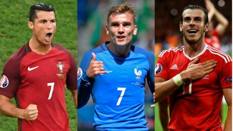 Football: Ronaldo, Griezmann, Bale vie for UEFA Best Player in Europe award