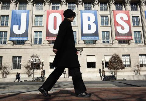 US jobs report: strong job gains and unemployment rate steady at 4.9%