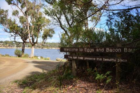 New form of discrimination: vegan activists don't like Eggs and Bacon Bay name in Tasmania
