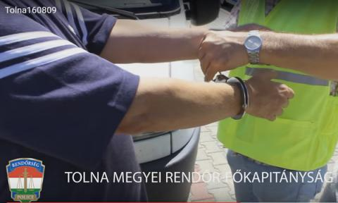 Hungarian police cought Ukrainian on human smuggling (VIDEO)