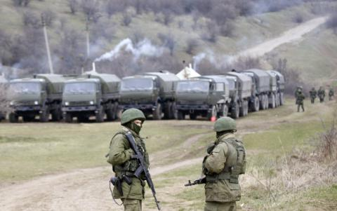There is a high activity of Russian military in Crimea