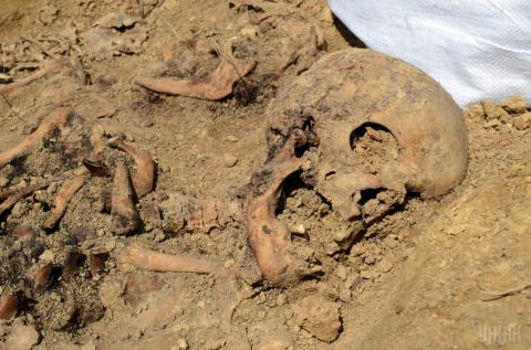 Massive burials found in Lviv at former KGB site