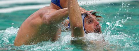 Water polo players complain on pain in the eyes after the Olympic pool