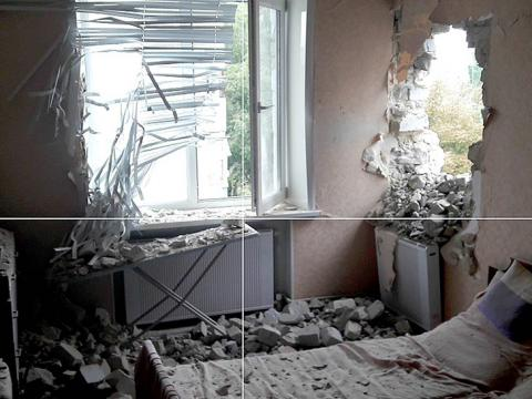 Donbas militants shell five-storey apartment building in Maryinka from 122mm artillery (PHOTO)