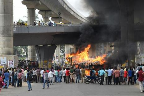 India's tech capital hit by riot