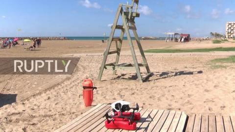 Beach in Spain uses drone to save people from drowning