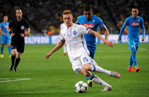 Dynamo Kyiv loses to Napoli 1-2