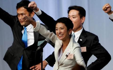 Japan's main opposition party elected its first female leader