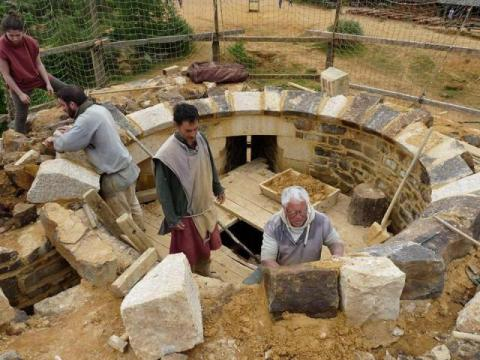 Castle being built by hand in France