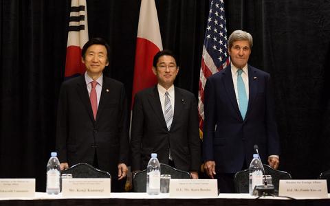 U.S., Japan, South Korea ministers talked over North Korea