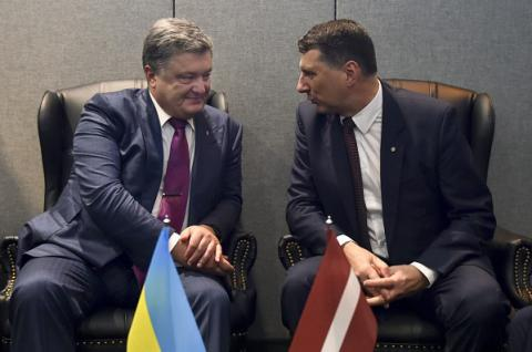 Ukrainian, Latvian presidents  agree to enhance cooperation between their countries