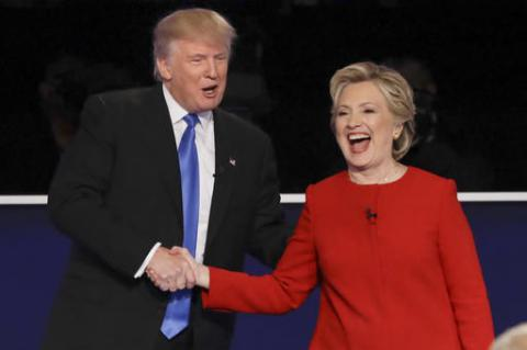 Clinton and Trump faced each other on first debate