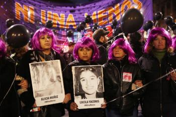Women in Argentina protest violence against women