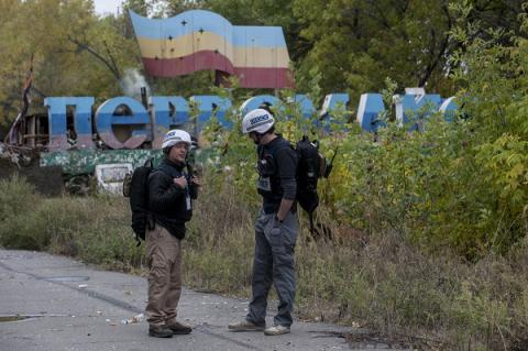 OSCE SMM postponing two Luhansk's areas monitoring due to mines