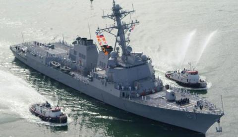 U.S.  ship fires missiles at Yemeni rebel sites