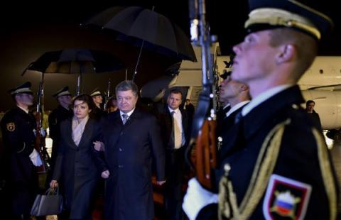 Ukrainian president visits Slovenia