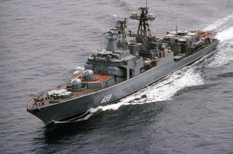In Mediterranean Russian warships chase away NATO submarine
