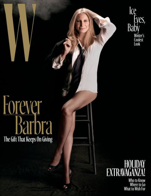 Barbra Streisand pantless on the cover of W magazine