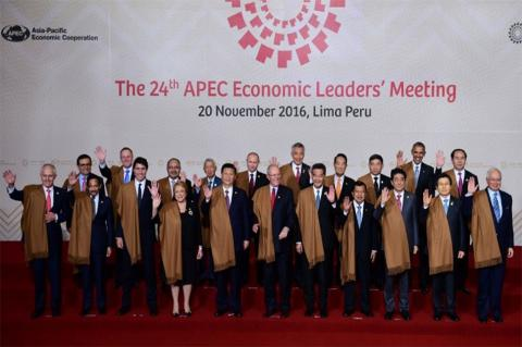 APEC leaders pledge to protect free trade agreements