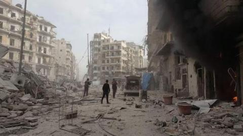 Aleppo strikes resumed killing 141 in east, 16 in west over past week