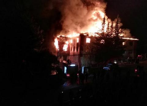 12 killed in fire in southern Turkish boarding school (VIDEO)