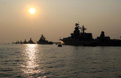 Russian Black Sea Fleet warships are in sea because of Ukraine's military drills