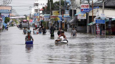 Floods battered Thailand killing 14
