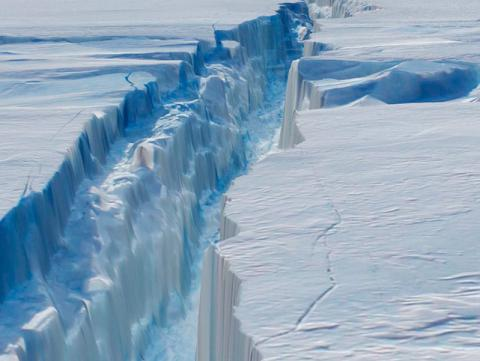 A chunk of sea ice the size of India has melted