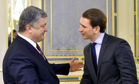 Poroshenko urges Kurz to respond adequately to human rights violations in Moscow-occupied territories of Ukraine