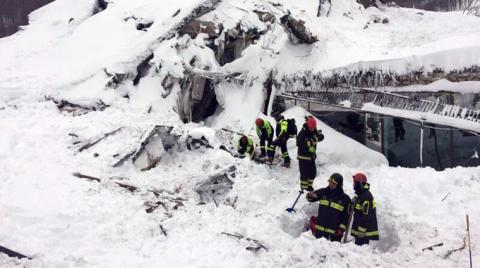 Rescuers found six alive inside avalanche-hit Rigopiano hotel in central Italy