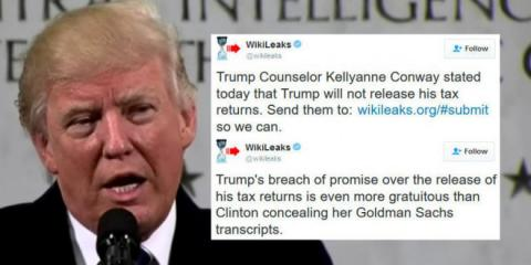 WikiLeaks urges people to leak Donald Trump