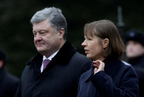 Estonia's president says her country supports anti-Russian sanctions extension