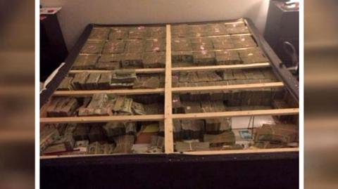 US police discovered $20m under a mattress