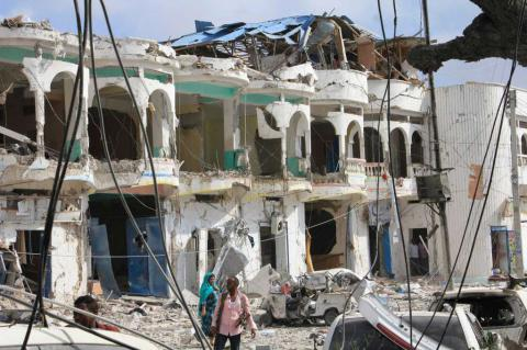 8 killed, 14 wounded during Islamic rebels' assault on Somalia hotel
