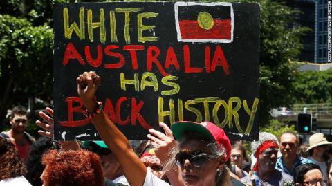 Thousands protest Australia Day celebration