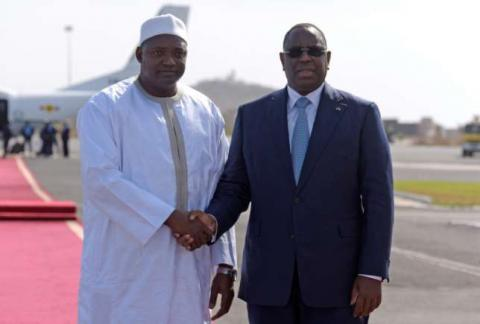 New Gambian president returned to country
