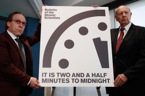 Doomsday Clock just ticked 2.5 minutes until midnight