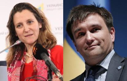Ukrainian, Canadian FMs discuss prospects for cooperation after FTA deal comes into force