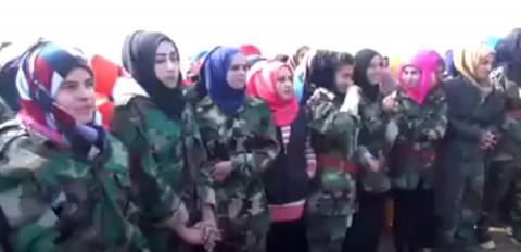 Syrian army now has women's troops to fight ISIS