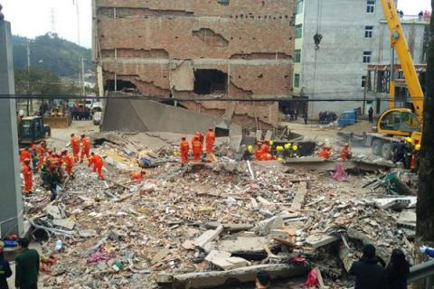 7 killed after group of homes in eastern China tumbled