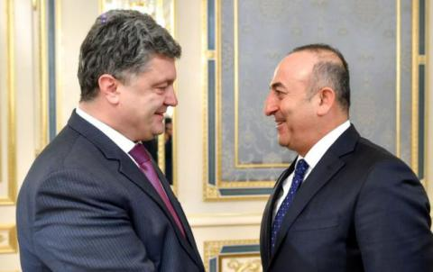 Ukrainian president meets with Turkish foreign minister