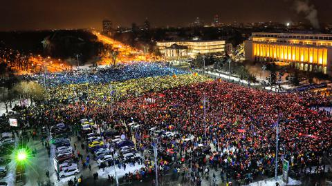 Romanian protests took to 13th day