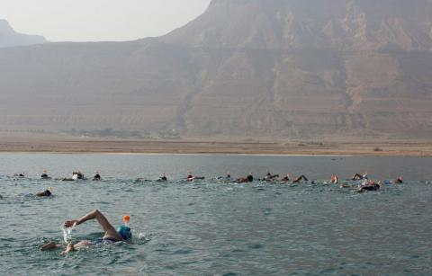 28 People Swam Across the Dead Sea to Prove a Point About the Environment