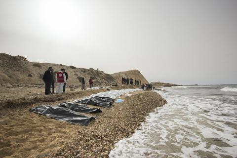 Bodies of 74 migrants washed ashore in Libya
