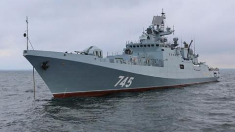 Russian ship heads to Mediterranean on Syria mission