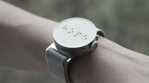 A Braille Smart Watch Lets Blind People Feel Messages on Screen